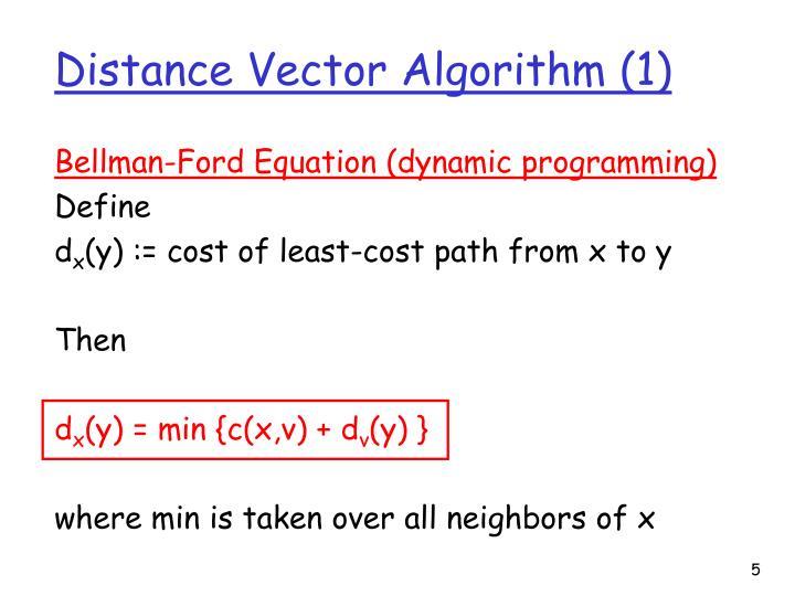 Distance Vector Algorithm (1)