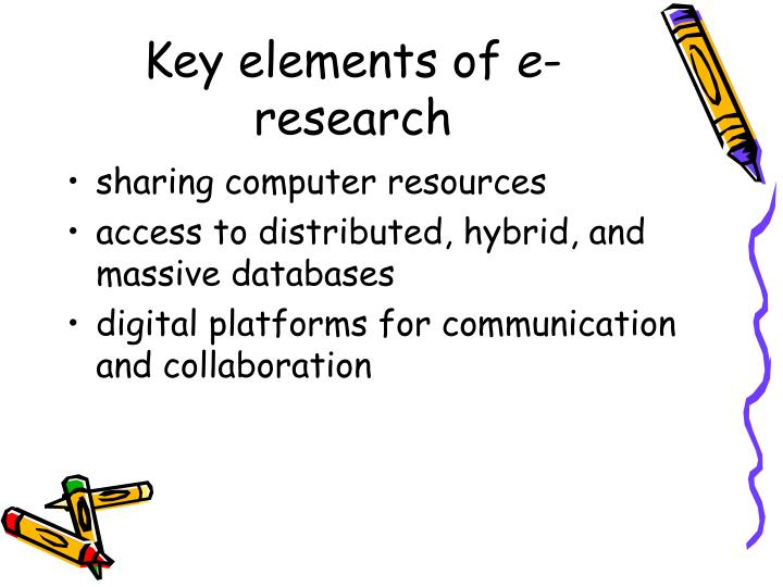 Key elements of