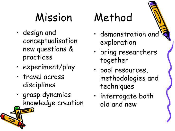 design and conceptualisation new questions & practices