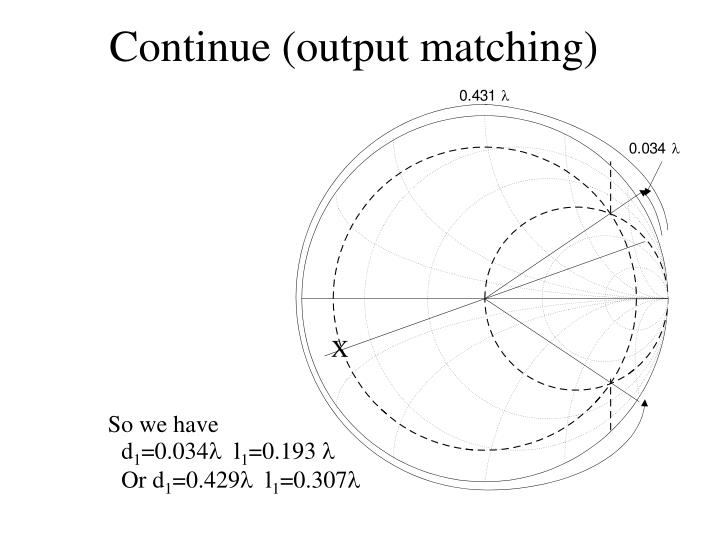 Continue (output matching)