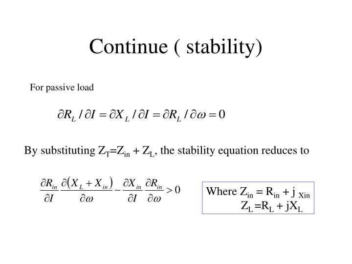 Continue ( stability)