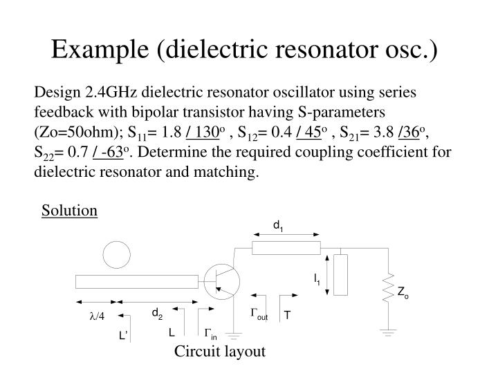 Example (dielectric resonator osc.)