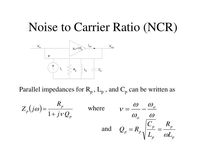Noise to Carrier Ratio (NCR)