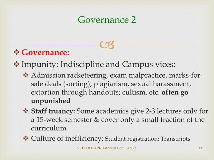 Governance 2