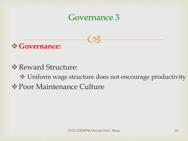 Governance 3