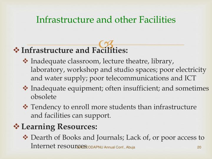 Infrastructure and other Facilities