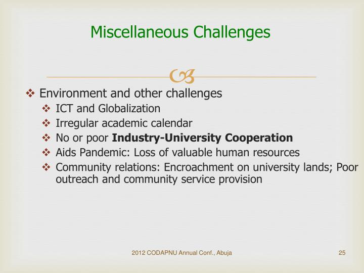 Miscellaneous Challenges