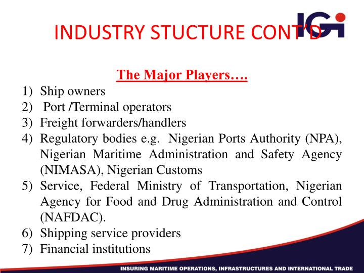 INDUSTRY STUCTURE CONT'D
