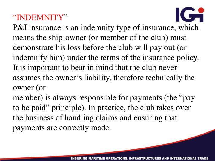 """INDEMNITY"
