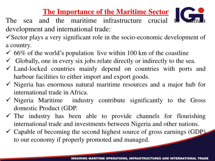The Importance of the Maritime Sector