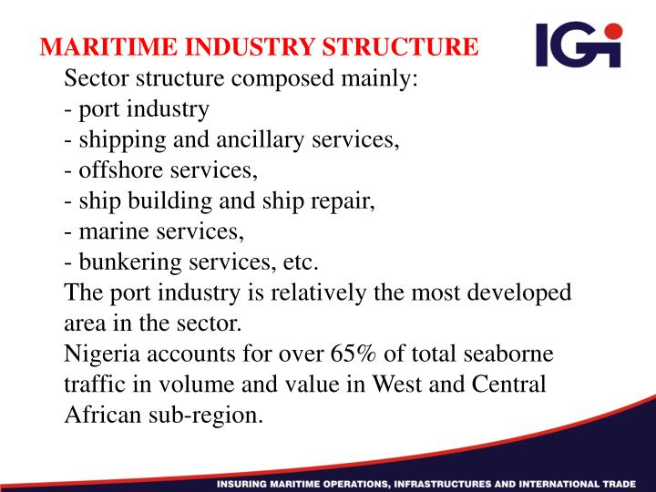 MARITIME INDUSTRY STRUCTURE
