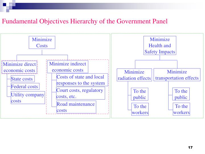 Fundamental Objectives Hierarchy of the Government Panel