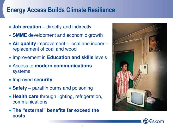 Energy Access Builds Climate Resilience