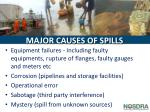 major causes of spills