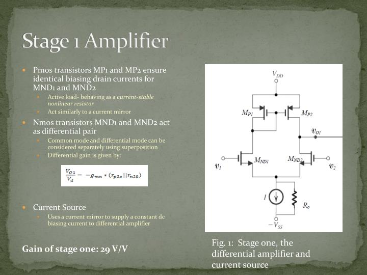 Stage 1 Amplifier