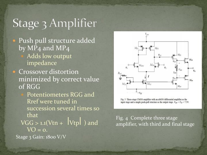 Stage 3 Amplifier
