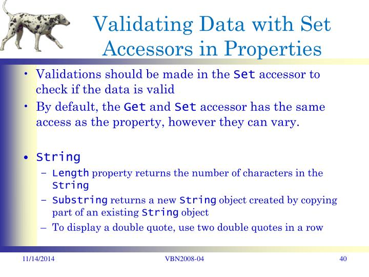 Validating Data with Set