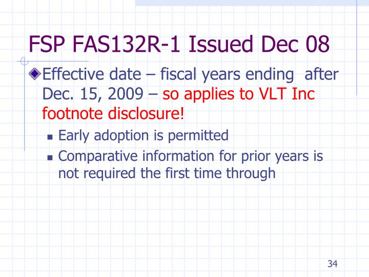 FSP FAS132R-1 Issued Dec 08