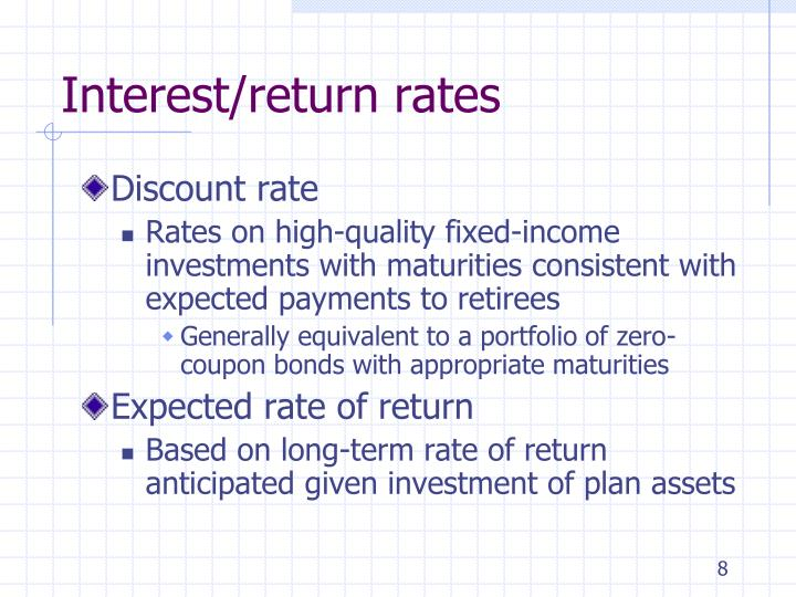 Interest/return rates