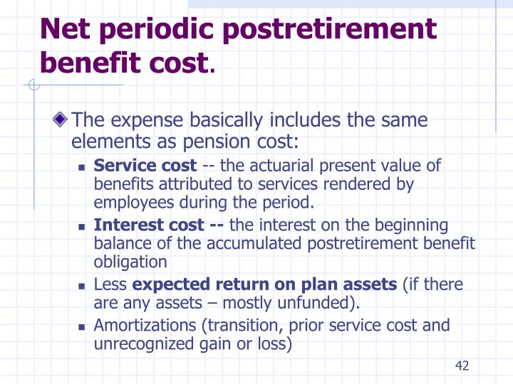 Net periodic postretirement benefit cost