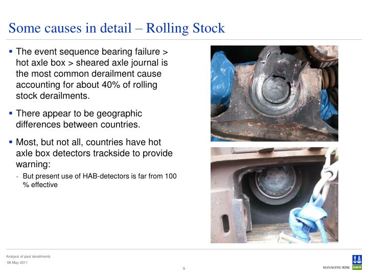 Some causes in detail – Rolling Stock