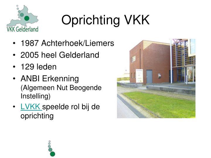 Oprichting VKK