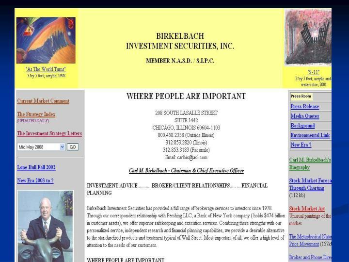 Birkelbach Management Corp.