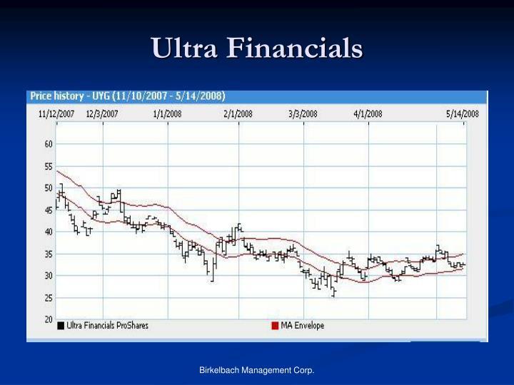 Ultra Financials