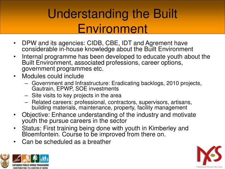Understanding the Built Environment