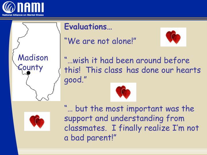 Evaluations…