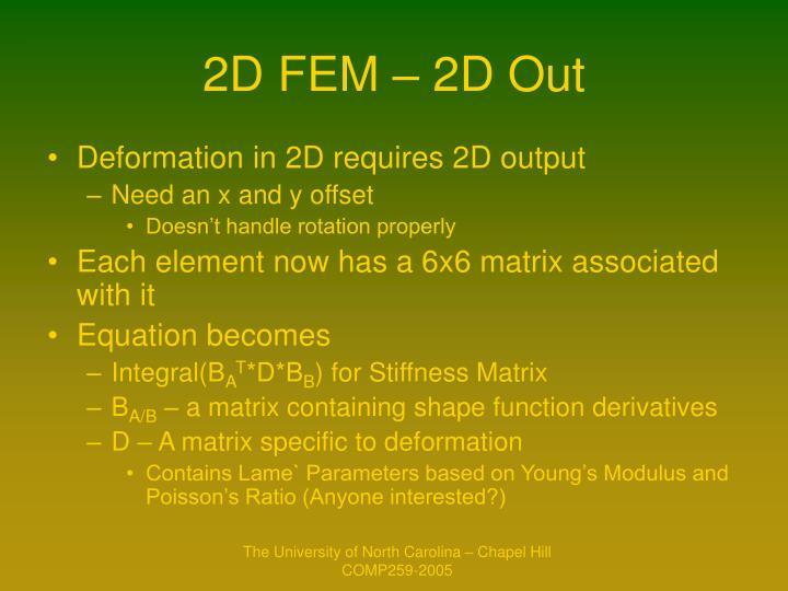 2D FEM – 2D Out