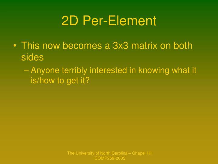 2D Per-Element