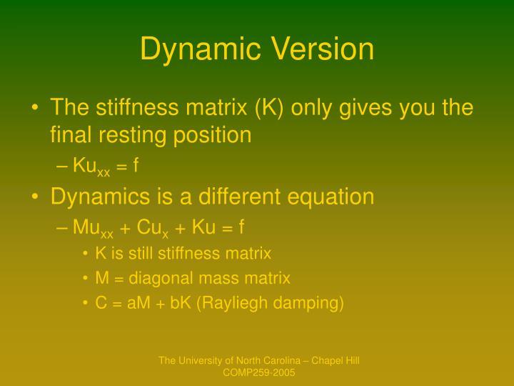 Dynamic Version