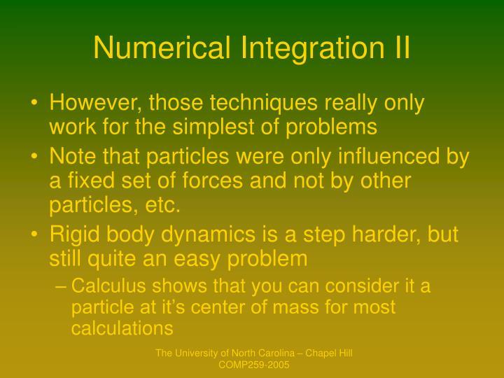 Numerical Integration II