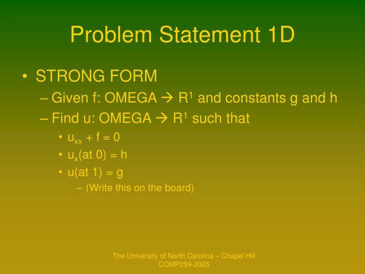 Problem Statement 1D