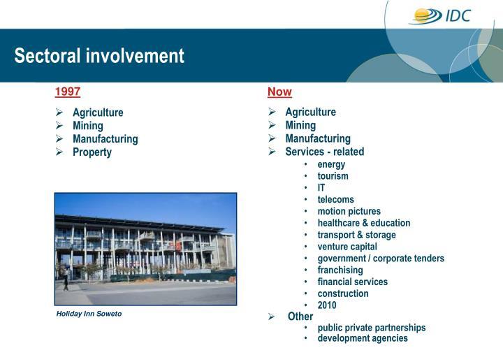 Sectoral involvement
