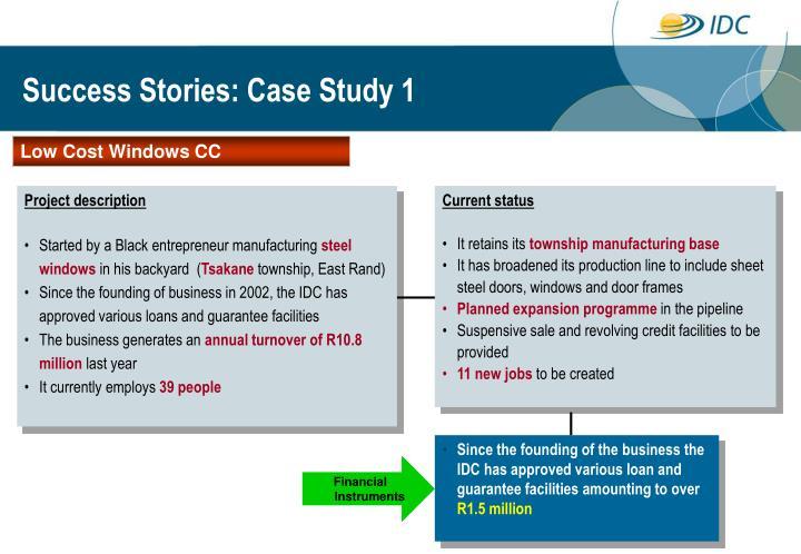 Success Stories: Case Study 1