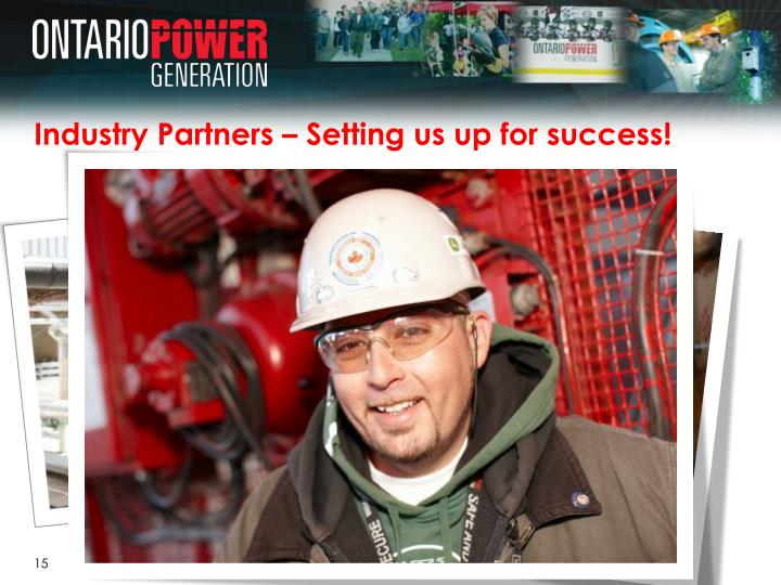 Industry Partners – Setting us up for success!