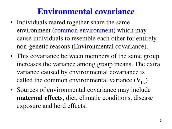 Environmental covariance