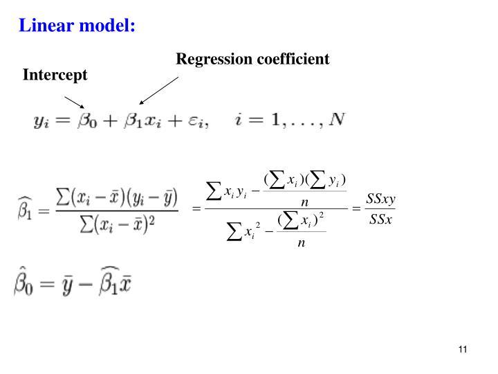 Linear model: