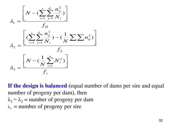 If the design is balanced (