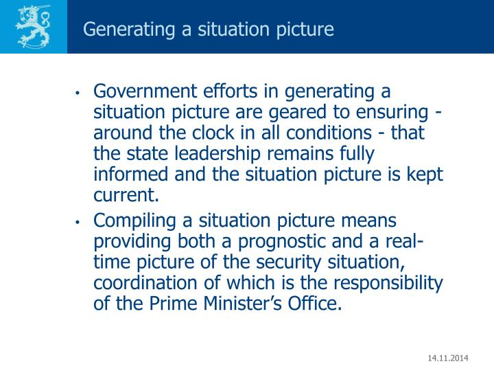 Generating a situation picture