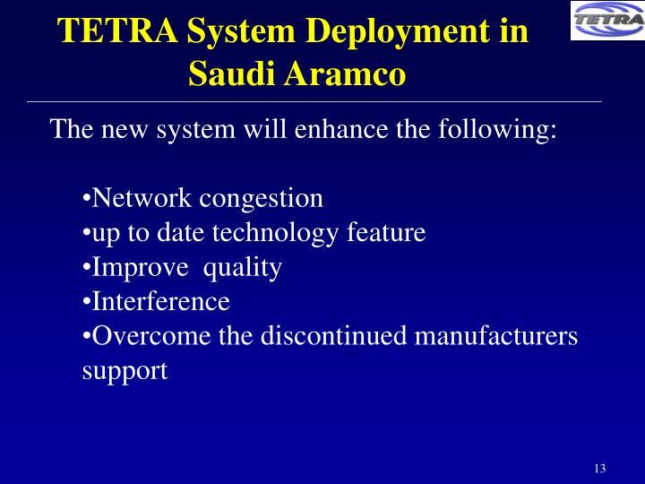 TETRA System Deployment in