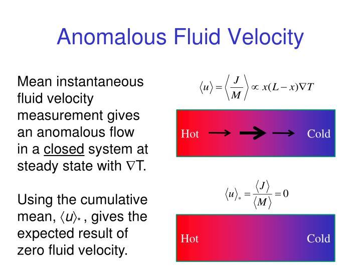 Anomalous Fluid Velocity