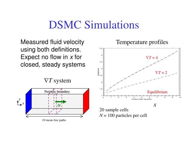 DSMC Simulations