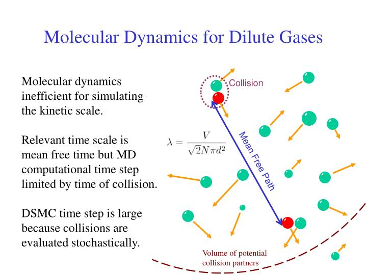 Molecular Dynamics for Dilute Gases