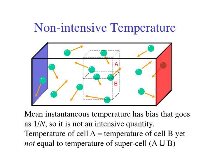 Non-intensive Temperature