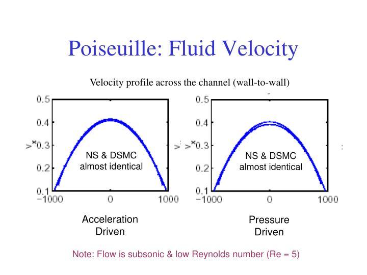 Poiseuille: Fluid Velocity