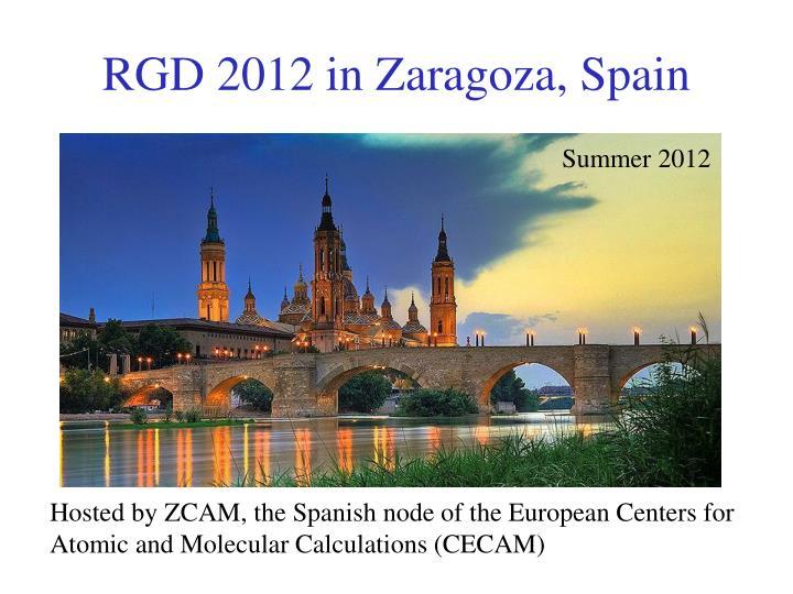 RGD 2012 in Zaragoza, Spain