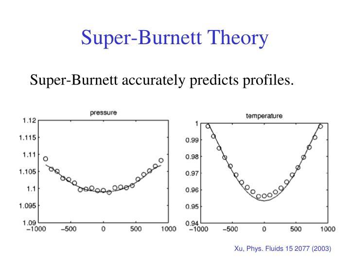 Super-Burnett Theory